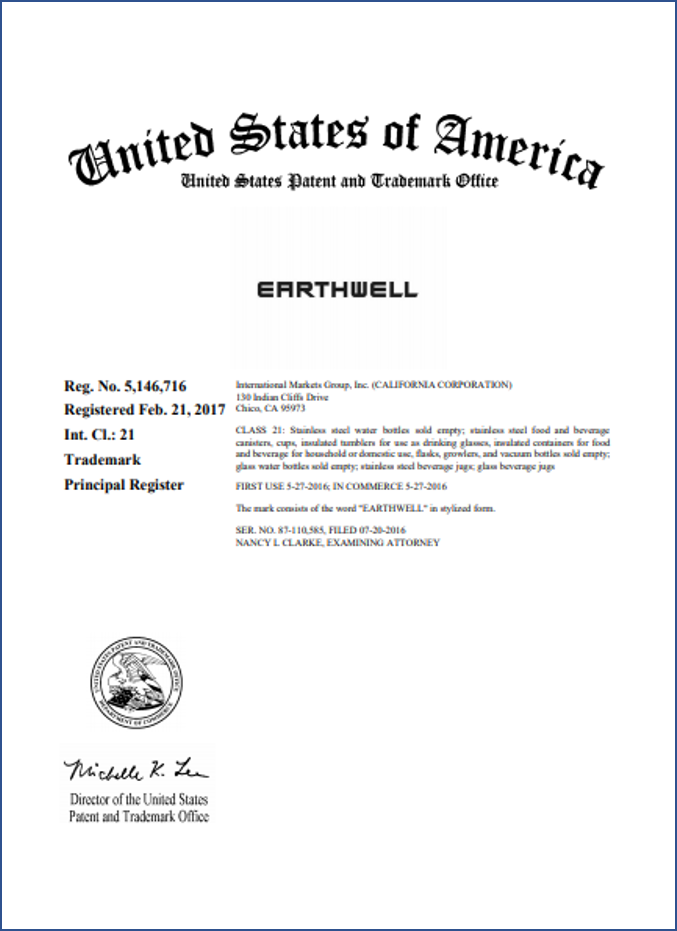 Federal Registration of a trademark